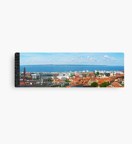 Sweden - Panorama of Helsingborg and Oeresund Canvas Print