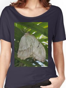 White Satin Women's Relaxed Fit T-Shirt