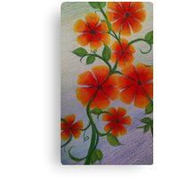 Orange floral Canvas Print