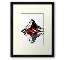Swiss airlines Framed Print