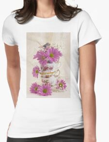 Tea Cups And Daisies  T-Shirt