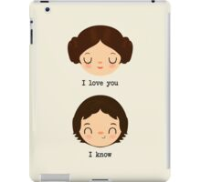 "Leia and Han Solo ""I love you"" ""I know"" - Star Wars iPad Case/Skin"