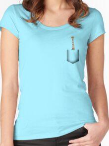 Giraffe pocket Women's Fitted Scoop T-Shirt