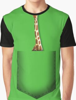 Giraffe pocket Graphic T-Shirt