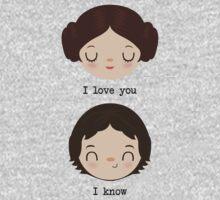"Leia and Han Solo ""I love you"" ""I know"" - Star Wars One Piece - Long Sleeve"