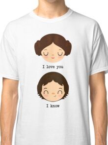 "Leia and Han Solo ""I love you"" ""I know"" - Star Wars Classic T-Shirt"