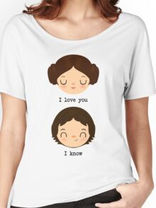 "Leia and Han Solo ""I love you"" ""I know"" - Star Wars Women's Relaxed Fit T-Shirt"