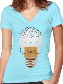 Cute light bulb Women's Fitted V-Neck T-Shirt