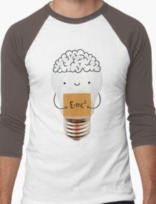 Cute light bulb Men's Baseball ¾ T-Shirt