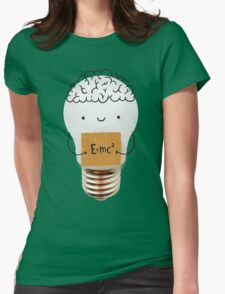 Cute light bulb Womens Fitted T-Shirt
