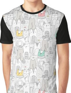 Doodle cats Graphic T-Shirt