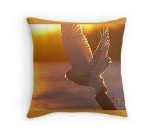 Until next time - Snowy Owl Throw Pillow