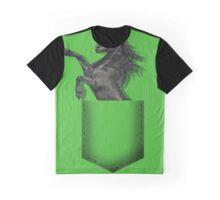 Black horse pocket Graphic T-Shirt