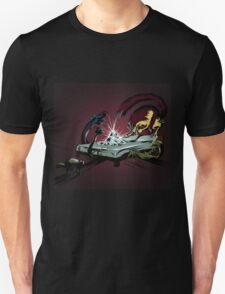Scary monsters in dark room Unisex T-Shirt