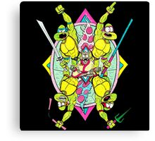 Turtle Pizza Ninja Canvas Print