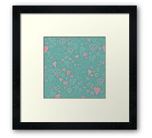 The pattern in the heart Framed Print