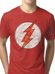 Kid Flash - DC Spray Paint Tri-blend T-Shirt
