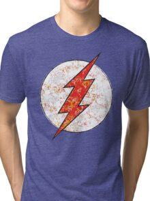 Kid Flash - DC Spray Paint Tri-blend T-Shirt