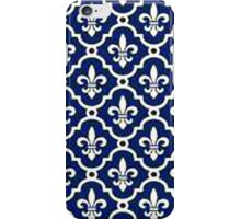 navy blue textile pattern iPhone Case/Skin