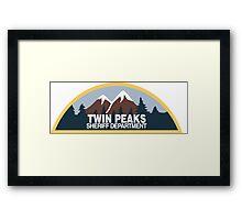 Twin Peaks- sheriff department Framed Print