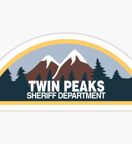 Twin Peaks- sheriff department Sticker
