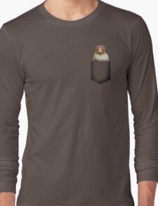 Japanese monkey pocket Long Sleeve T-Shirt