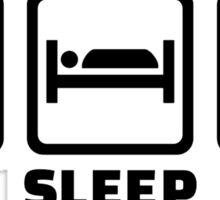 Eat sleep fight Sticker