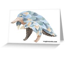 Magic Novels Pangolin Greeting Card