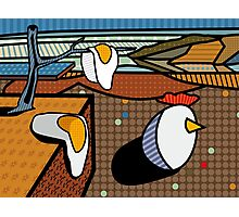 Bored Fried Eggs Photographic Print