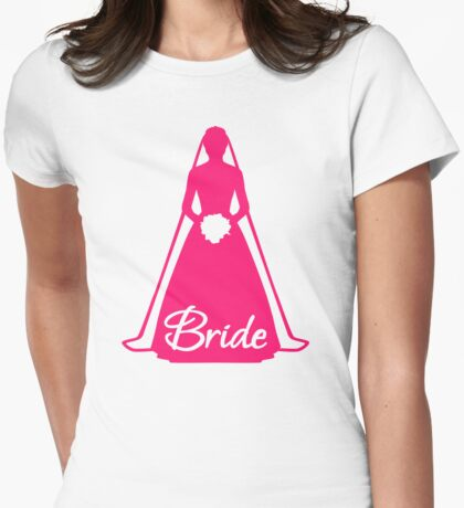 Bride Womens Fitted T-Shirt