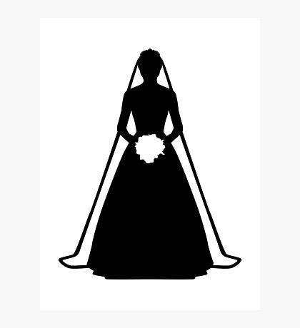 Bride dress Photographic Print