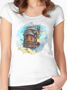 Howls painting 2 Women's Fitted Scoop T-Shirt