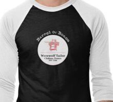 Barrel of Bones (White) Men's Baseball ¾ T-Shirt