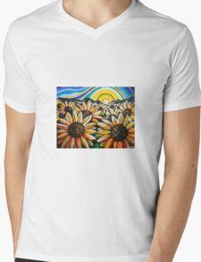 Sunflower Sunrise Mens V-Neck T-Shirt