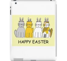 Easter Bunny Cats with ears. iPad Case/Skin