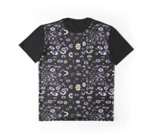 Gears black, purple and white pattern Graphic T-Shirt