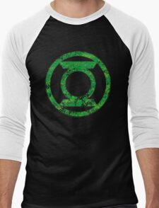 Lantern 4 - DC Spray Paint Men's Baseball ¾ T-Shirt