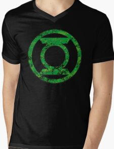 Lantern 4 - DC Spray Paint Mens V-Neck T-Shirt