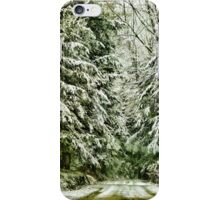 A snowy ride iPhone Case/Skin