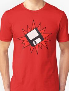 Dynamic Retro Floppy Disc old skool tech Unisex T-Shirt