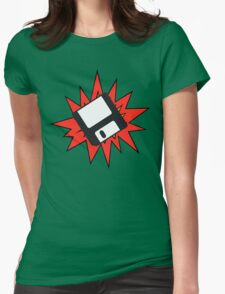 Dynamic Retro Floppy Disc old skool tech Womens Fitted T-Shirt