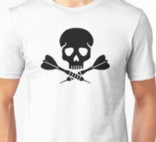 Darts skull Unisex T-Shirt