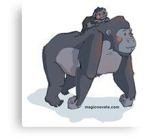Magic Novels Gorilla and Baby Gorilla Canvas Print