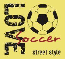 Love Soccer  Street Style  One Piece - Short Sleeve