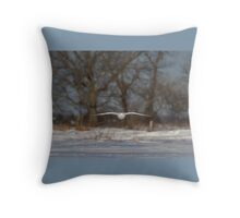 Glider - Snowy Owl Throw Pillow