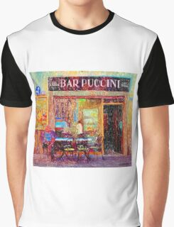 Bar Puccini, Lucca, Italy Graphic T-Shirt