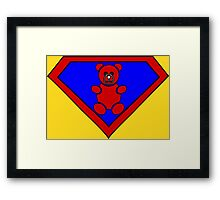 Hero, Heroine, Superhero, Super Teddy Framed Print