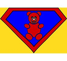Hero, Heroine, Superhero, Super Teddy Photographic Print