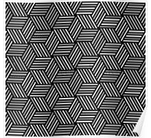 crazy pattern - cube Poster