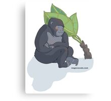 Magic Novels Sleeping Gorilla Canvas Print